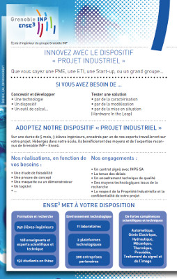 Couverture plaquette projets industriels